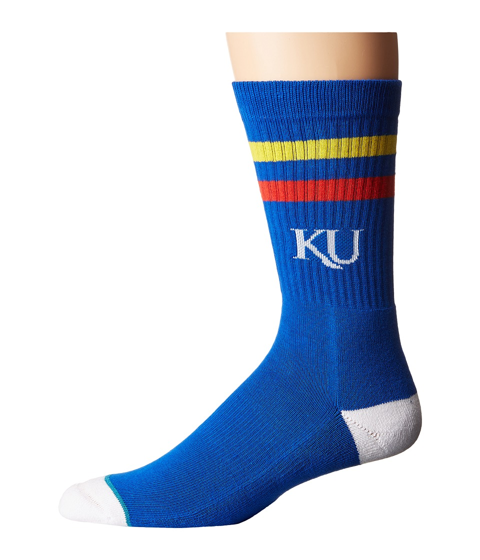 Stance - Kansas Jayhawks (Blue) Men's Crew Cut Socks Shoes