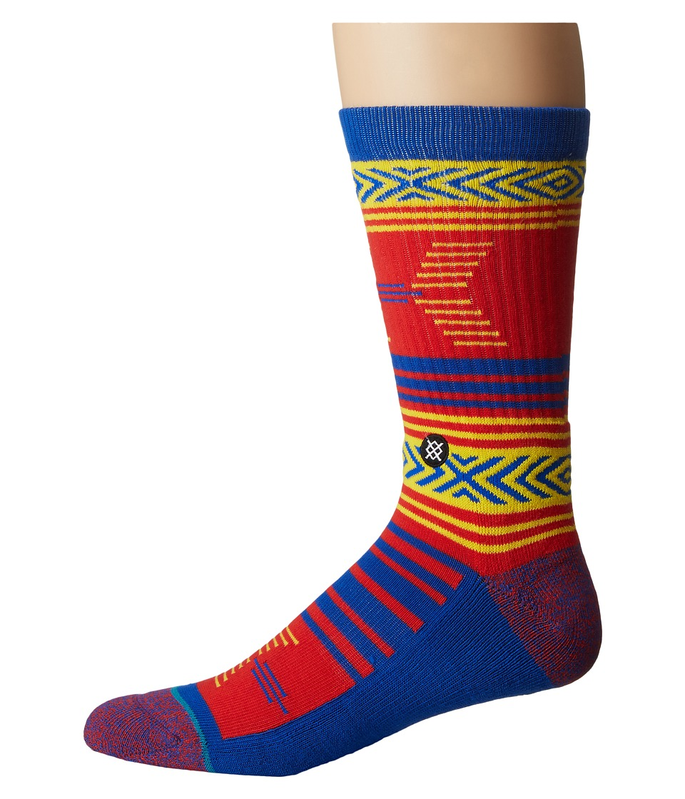 Stance - Mazed Kansas (Blue) Men's Crew Cut Socks Shoes