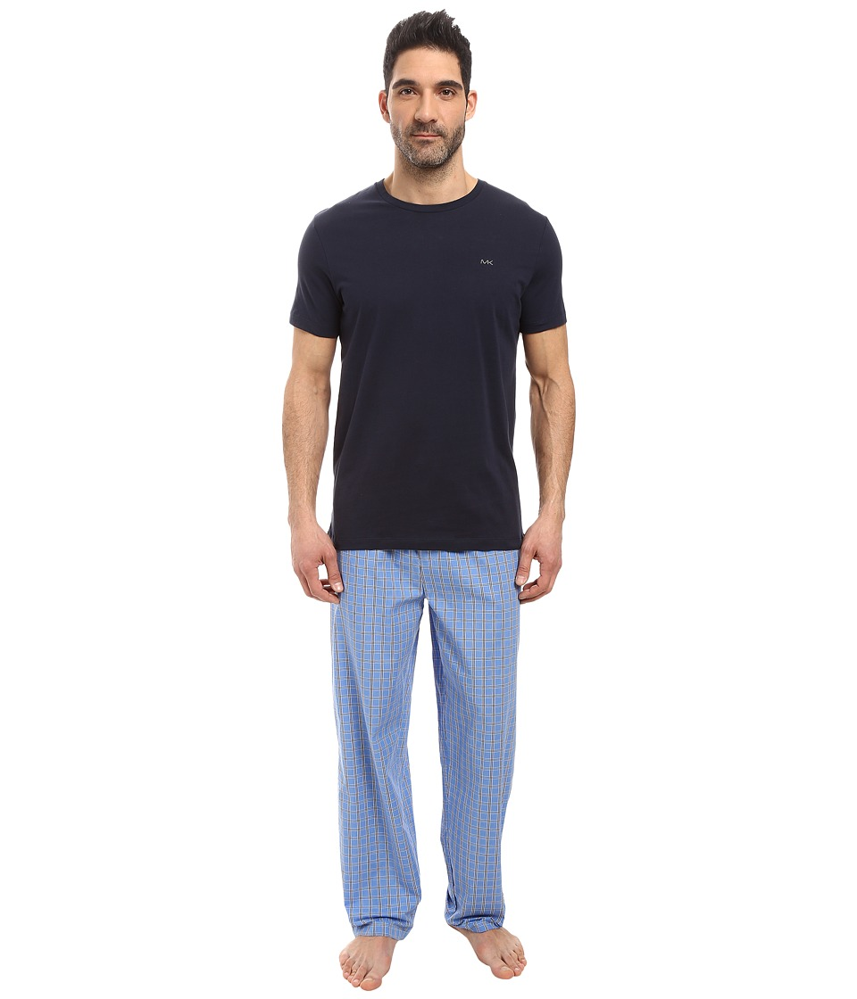 Michael Kors - Poplin Sleep Set (Soft Blue) Men's Pajama Sets