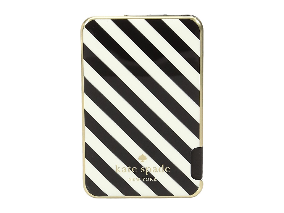 Kate Spade New York - Stripe Slim Battery Bank (Black/Cream) Cell Phone Case