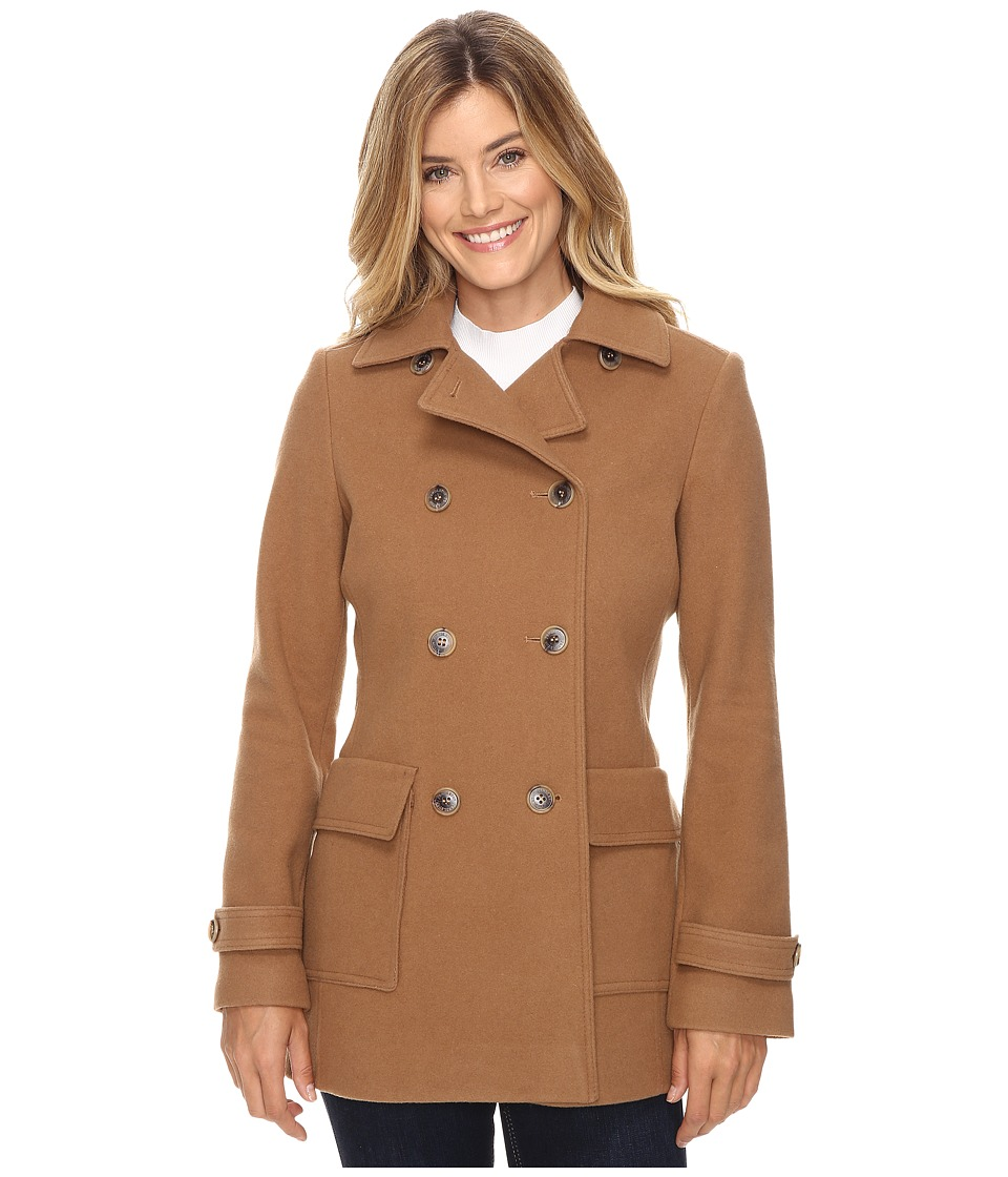 Pendleton - Double-Breasted Coat (Camel) Women's Coat