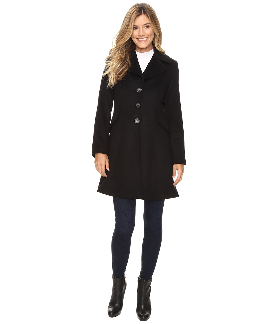 Pendleton - Fit and Flare Coat (Black) Women's Coat