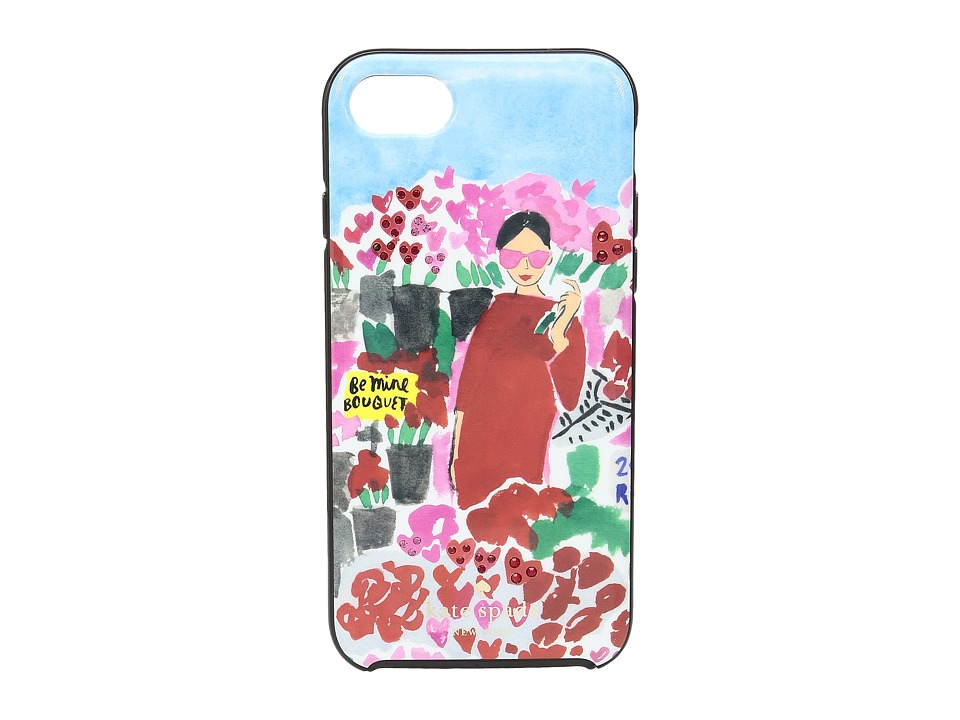 Kate Spade New York - Jeweled Floral Bella Phone Case for iPhone 7 (Multi) Cell Phone Case
