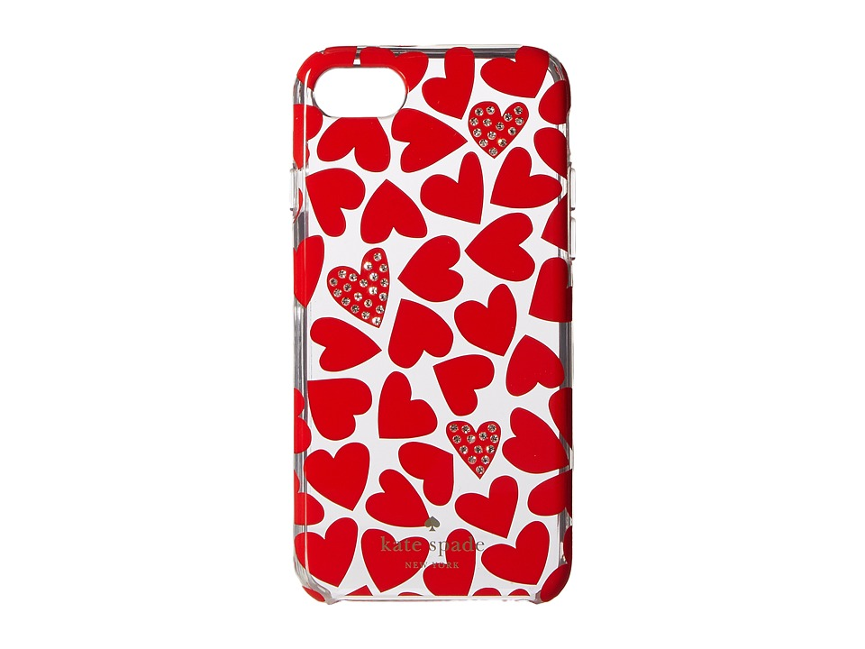 Kate Spade New York - Scattered Hearts Phone Case for iPhone(r) 7 (Multi) Cell Phone Case