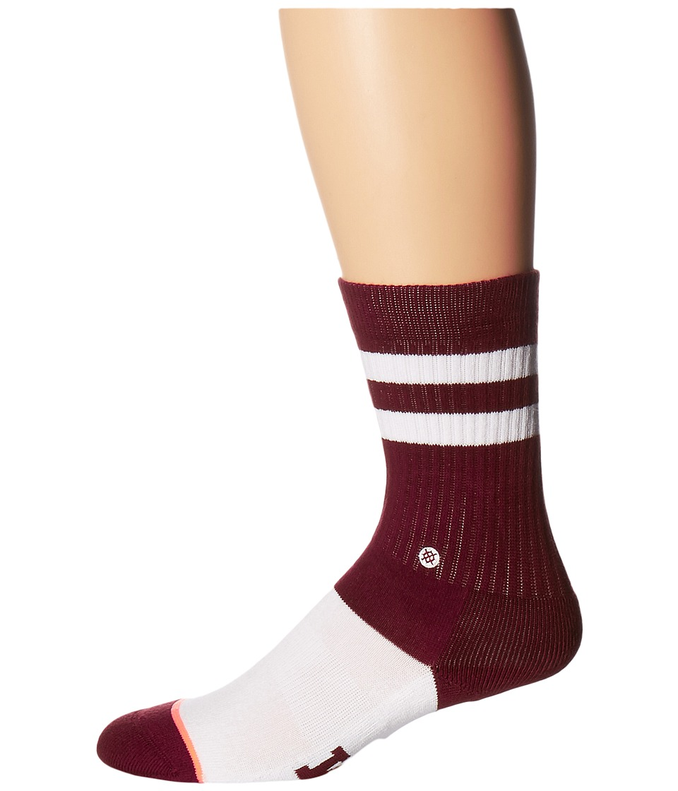 Stance - Reveille Classic Crew (Maroon) Women's Crew Cut Socks Shoes