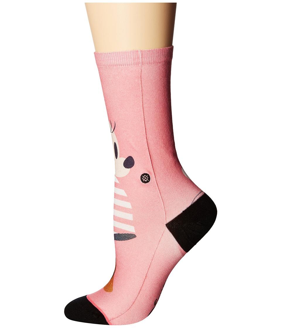 Stance - Sassy Minnie (Pink) Women's Crew Cut Socks Shoes