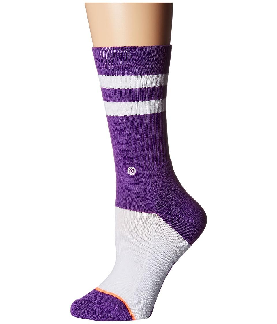 Stance - Louisiana Classic Crew (Purple) Women's Crew Cut Socks Shoes
