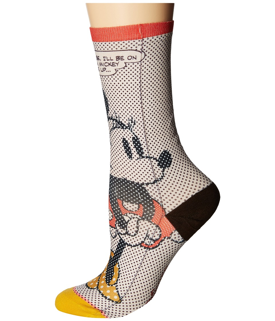 Stance - Tick Tock Minnie (Off-White) Women's Crew Cut Socks Shoes