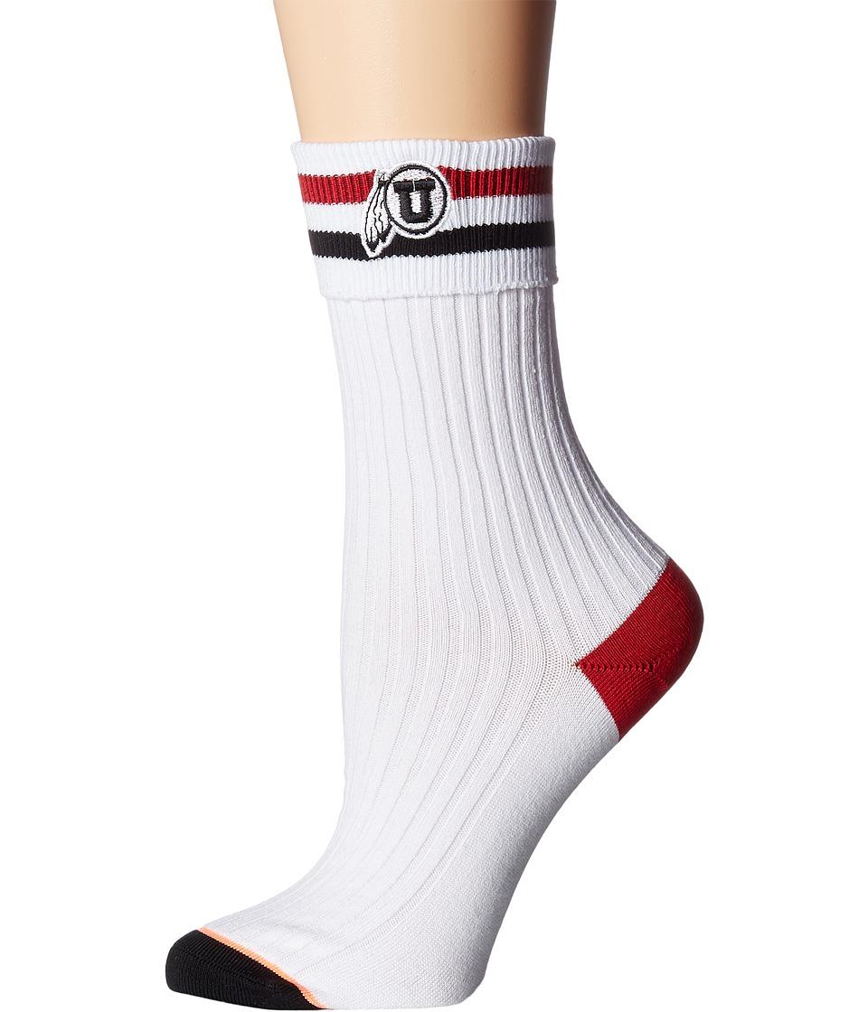 Stance - Utes Foreva (White) Women's Crew Cut Socks Shoes
