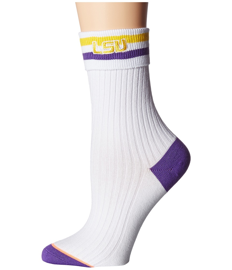 Stance - Go LSU (White) Women's Crew Cut Socks Shoes