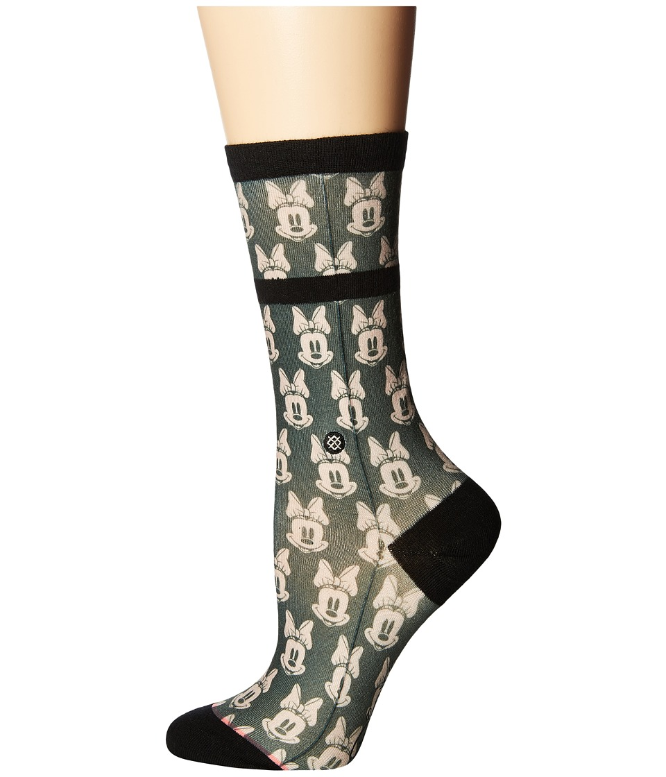 Stance - Mini Minnies (Green) Women's Crew Cut Socks Shoes