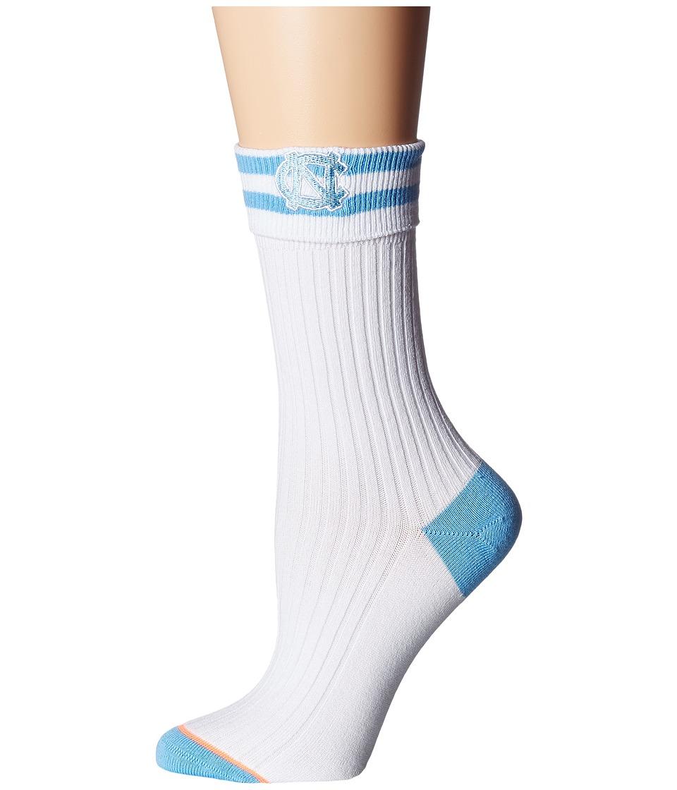 Stance - Tarheel (White) Women's Crew Cut Socks Shoes