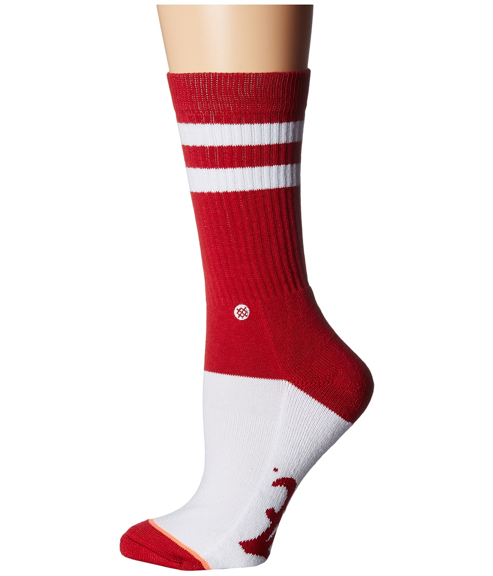 Stance - Bama Rules Classic Crew (Maroon) Women's Crew Cut Socks Shoes