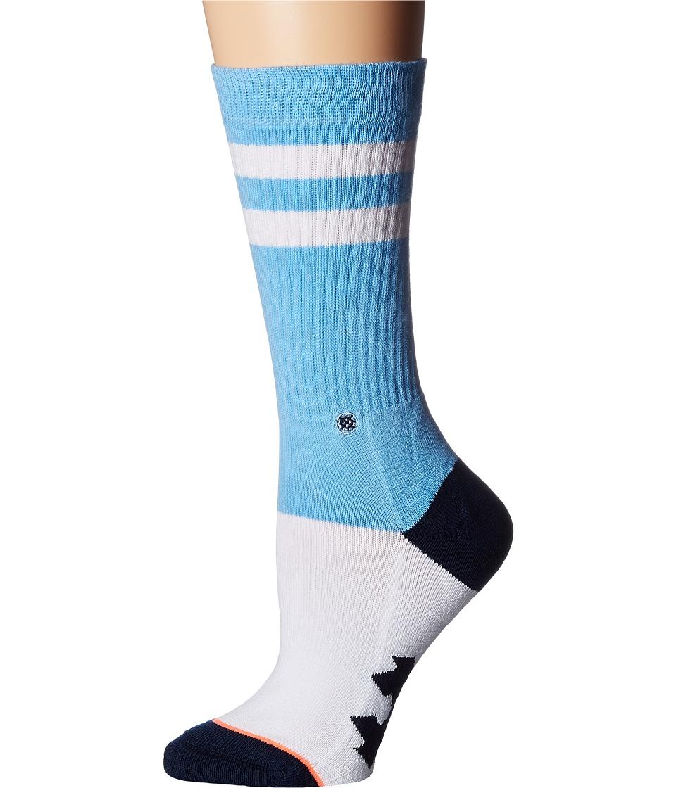 Stance - The Tarheels Classic Crew (Light Blue) Women's Crew Cut Socks Shoes