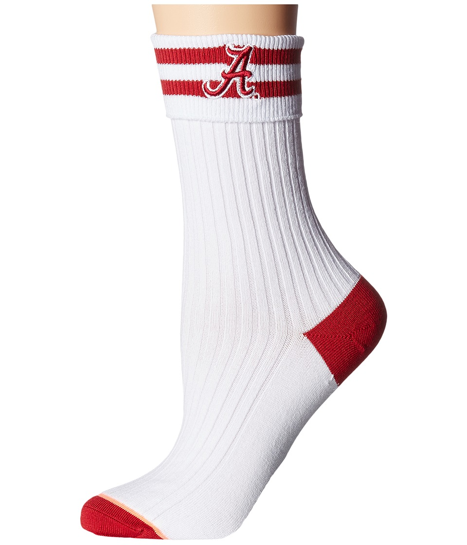 Stance - Bama Bama (White) Women's Crew Cut Socks Shoes