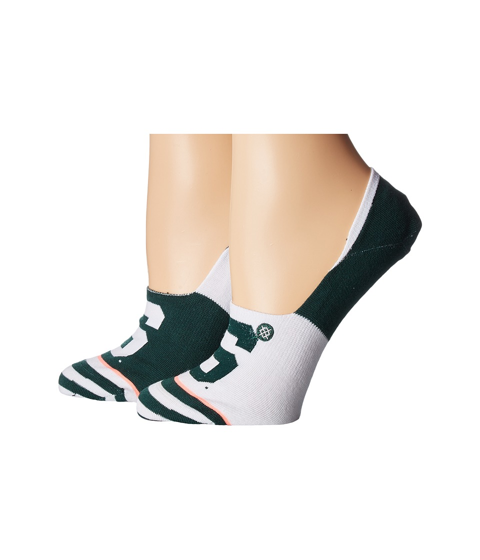 Stance - Michigan State Invisible (Green) Women's Crew Cut Socks Shoes
