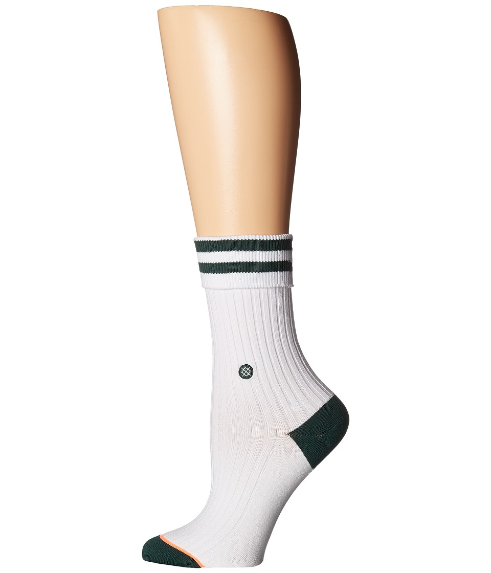 Stance - Michigan State (White) Women's Crew Cut Socks Shoes