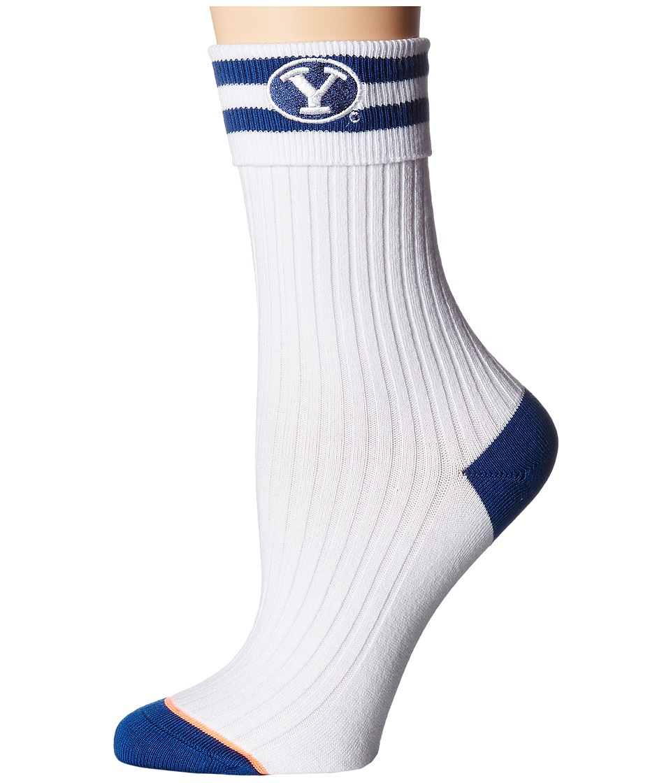 Stance - BYU Cougs (White) Women's Crew Cut Socks Shoes