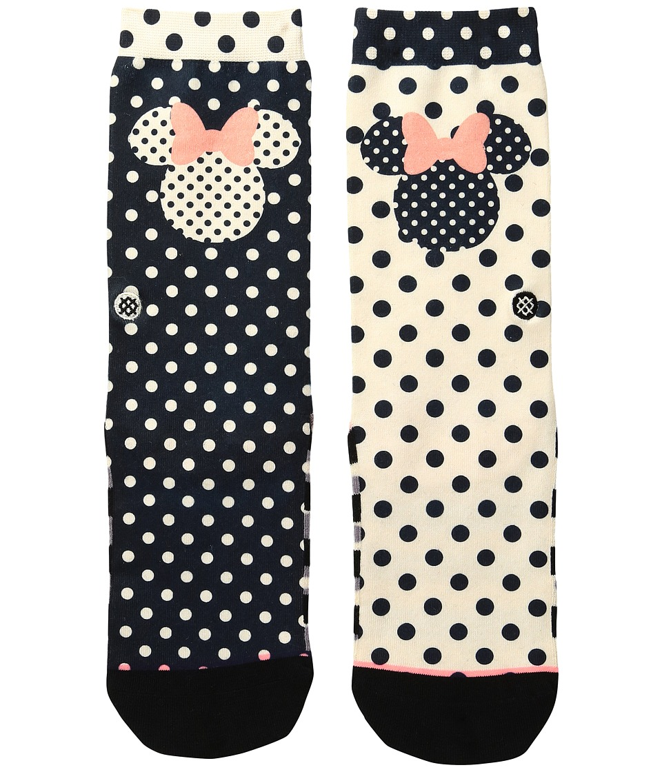 Stance - Sprinkled Minnie (Toddler/Little Kid/Big Kid) (Black) Women's Crew Cut Socks Shoes