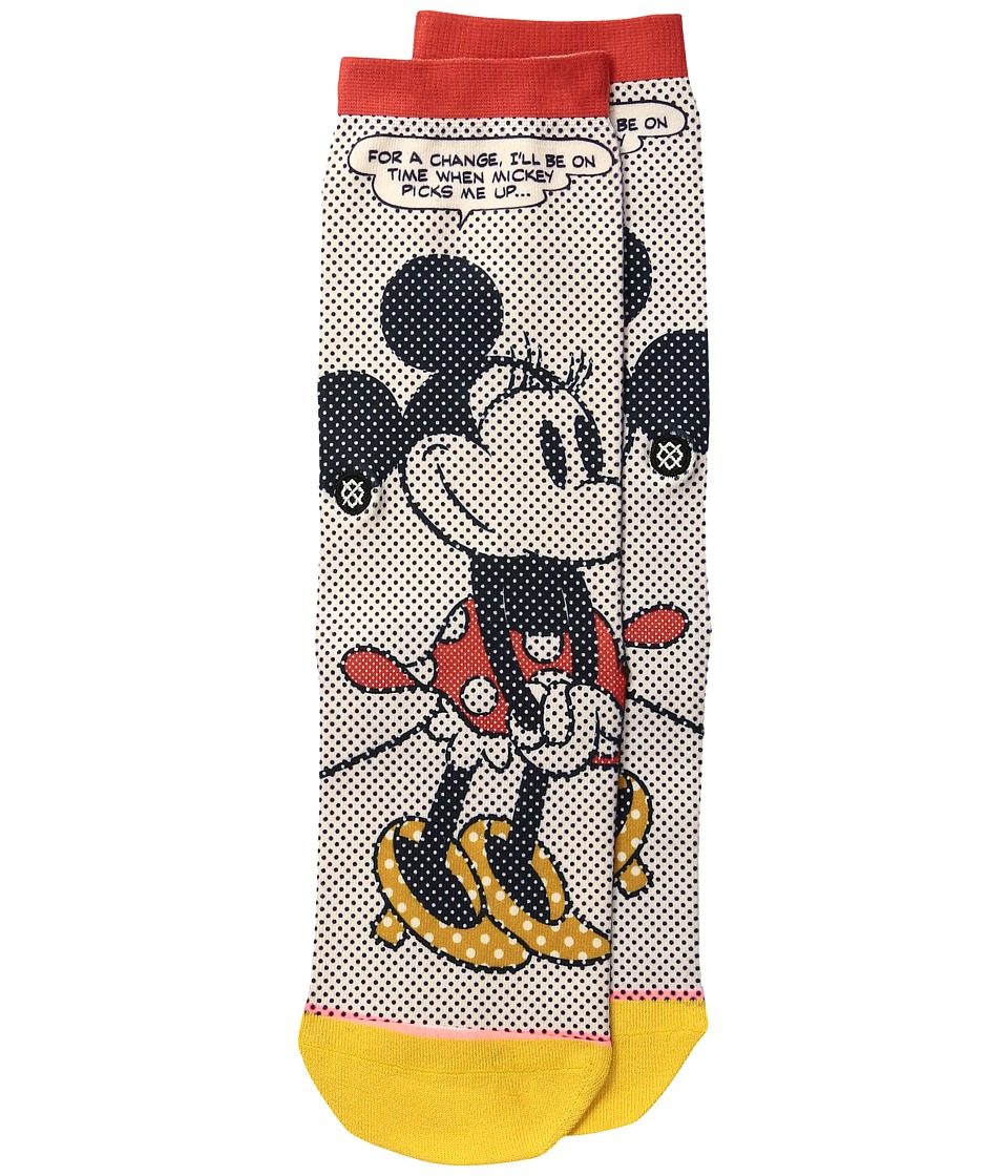 Stance - Tick Tock Minnie (Toddler/Little Kid/Big Kid) (Off-White) Women's Crew Cut Socks Shoes