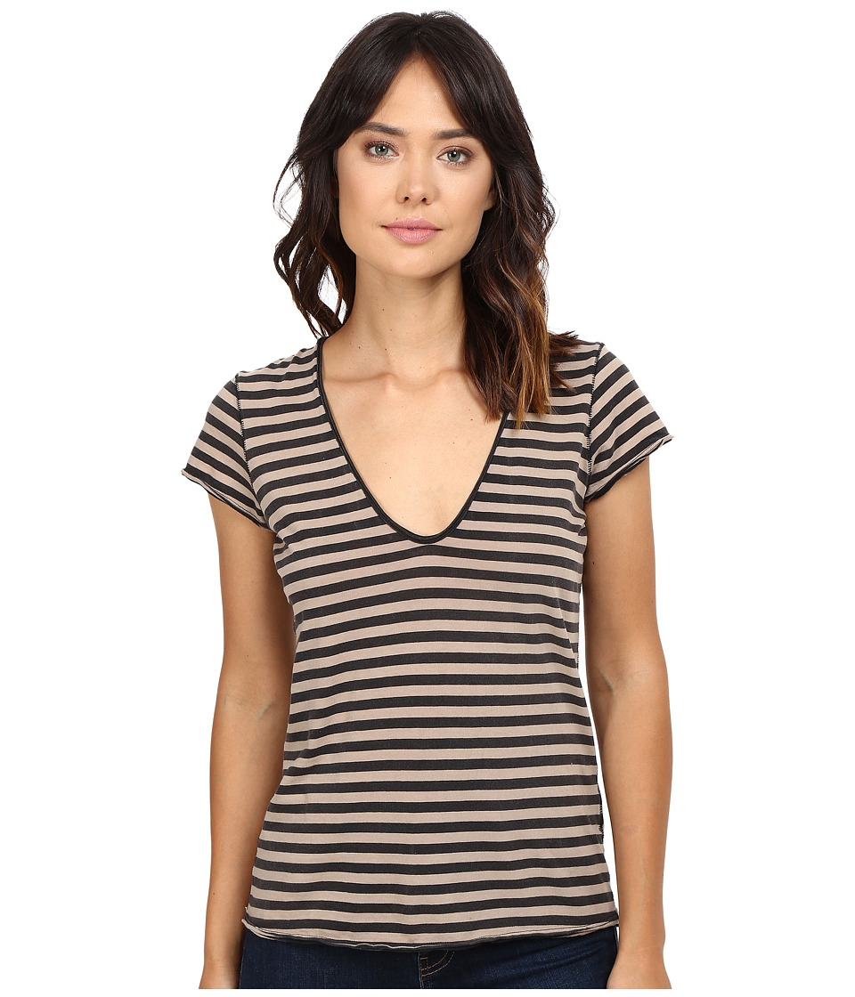 Free People - Avery Tee (Black) Women's T Shirt