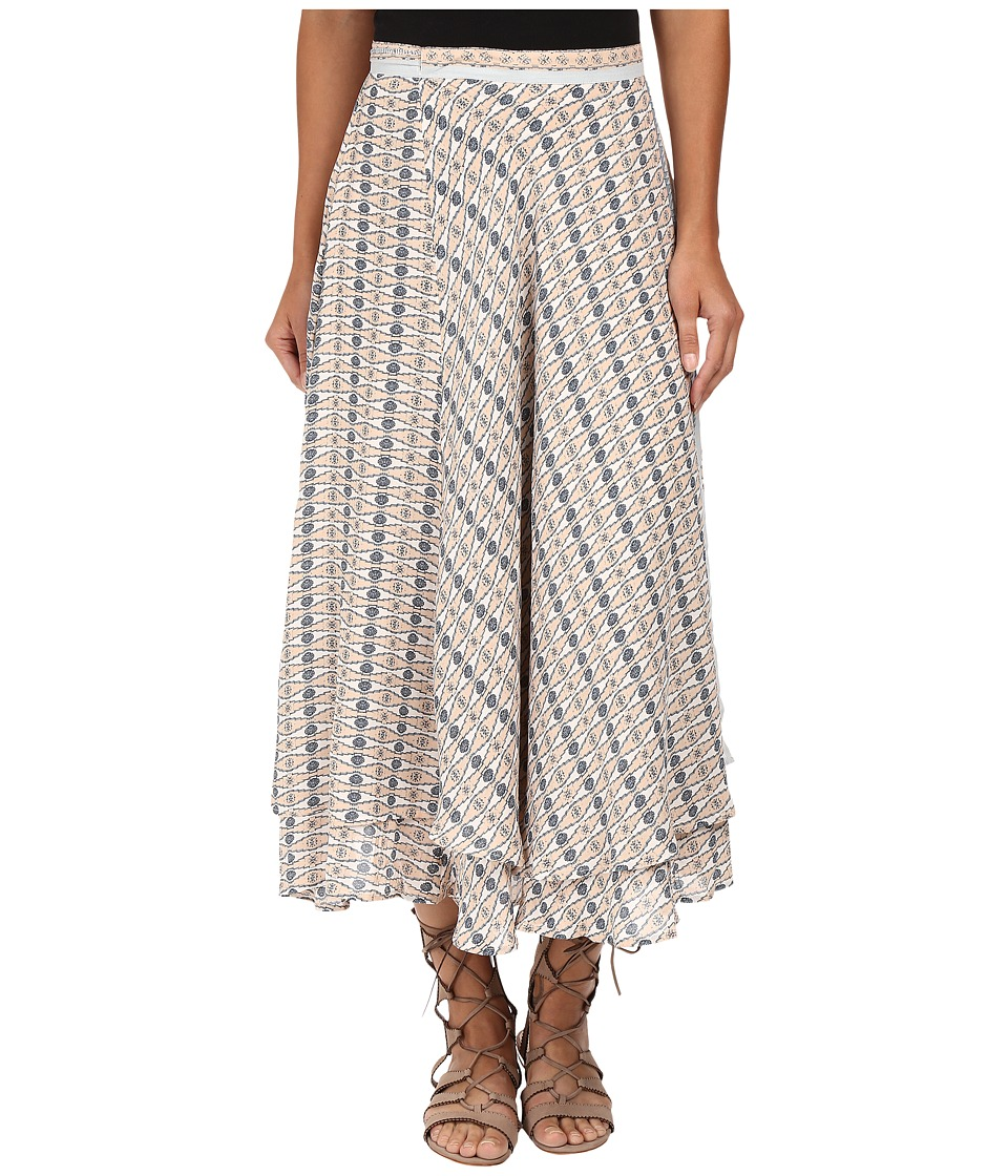 Free People - Good For You Printed Skirt (Ivory Combo) Women's Skirt