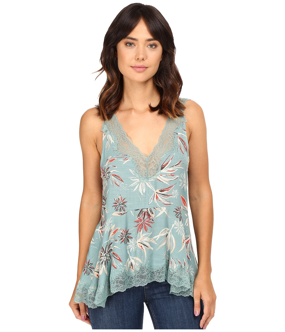 Free People - Bellflower Printed Tunic (Green Combo) Women's Blouse