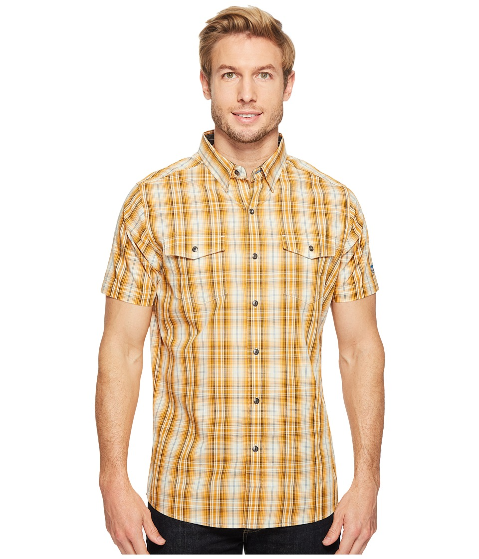 KUHL - Brisktm Short Sleeve Shirt (Sahara Sun) Men's Short Sleeve Button Up