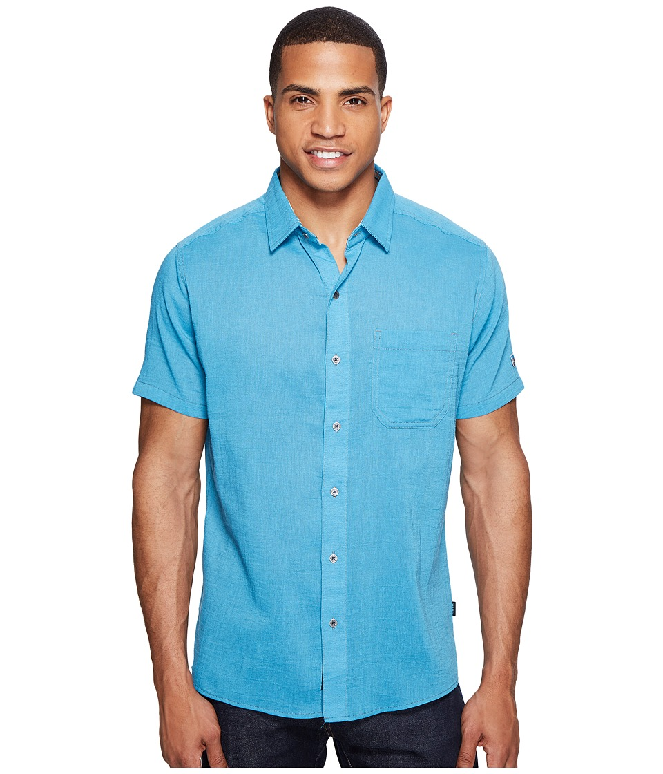 KUHL - Tropiktm S/S Shirt (Swedish Blue) Men's Short Sleeve Button Up