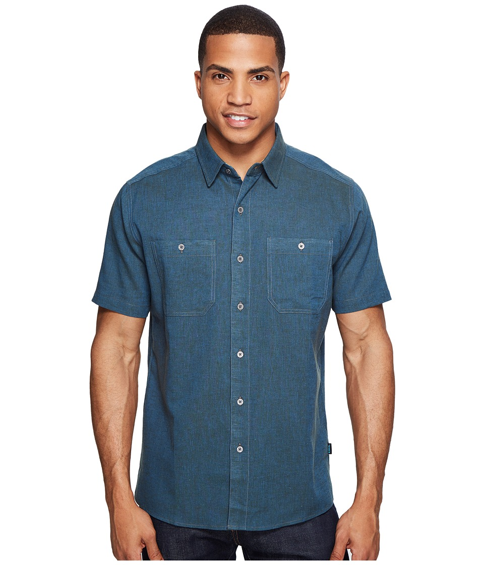 KUHL - Skorpio (Pirate Blue) Men's Short Sleeve Button Up