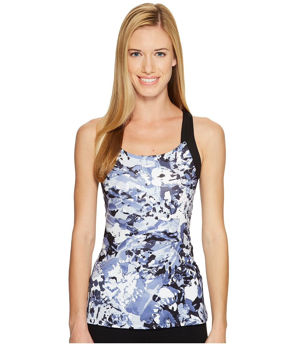 Lucy - Fitness Fix Tank Top (Lucy Navy Tie-Dye Print) Women's Sleeveless