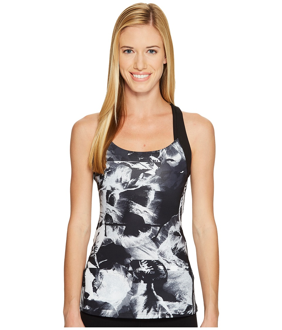 Lucy - Fitness Fix Tank Top (Lucy Black Abstract Floral Print) Women's Sleeveless