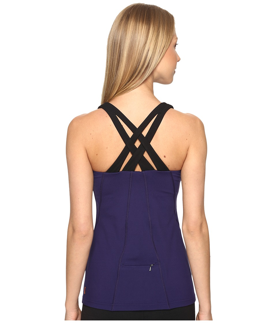 Lucy - Fitness Fix Tank Top (Pure Indigo) Women's Sleeveless
