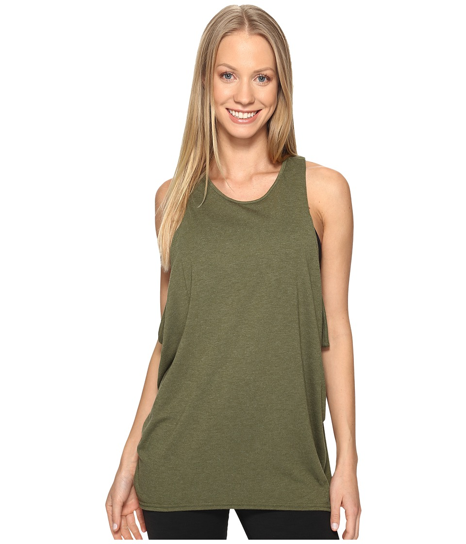 Lucy - Keep Calm Tank Top (Rich Olive) Women's Sleeveless