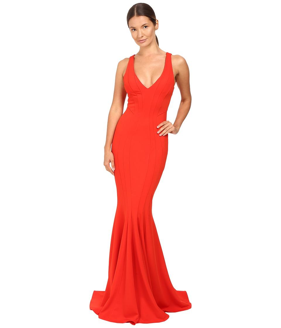 ZAC Zac Posen - Ronnie Gown (Cardinal) Women's Dress