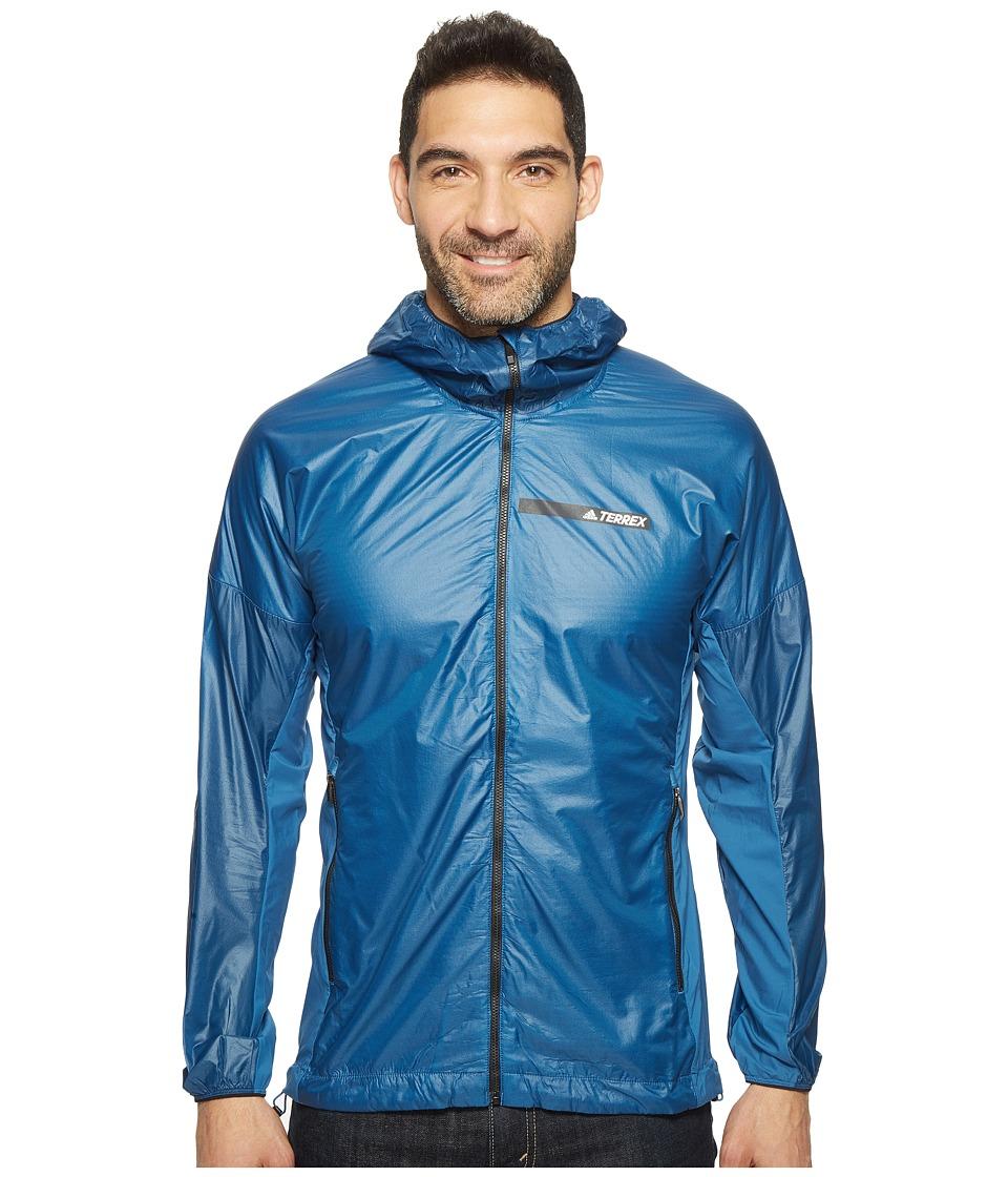adidas Outdoor - Agravic Alpha Shield Hoodie (Core Blue) Men's Sweatshirt