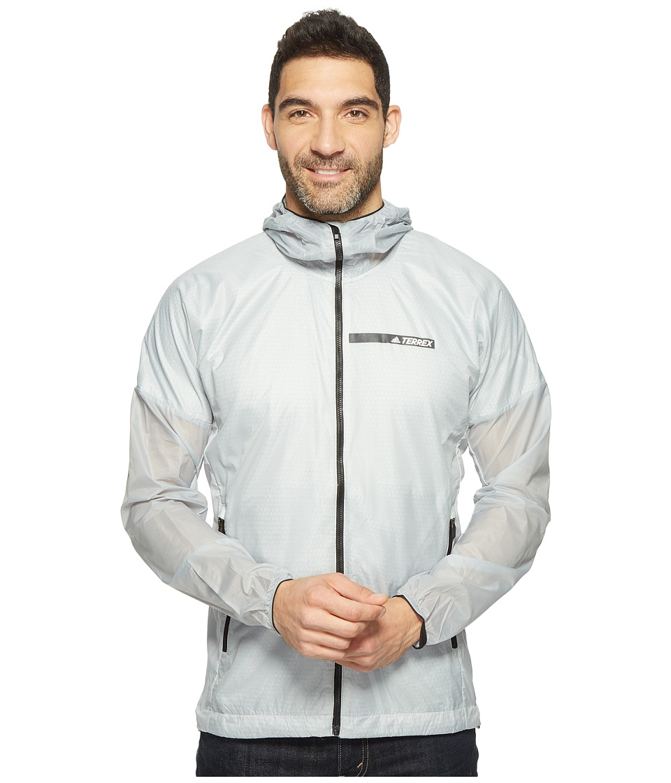 adidas Outdoor - Agravic Alpha Shield Hoodie (Clear Onix) Men's Sweatshirt