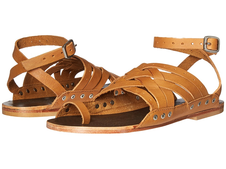 Free People - Belize Strappy Sandal (Tan) Women's Sandals