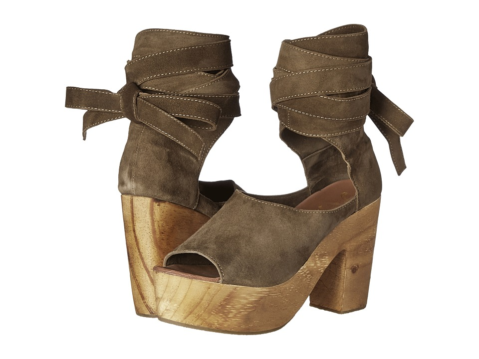 Free People - Touch the Sky Wrap Clog (Taupe) Women's Shoes