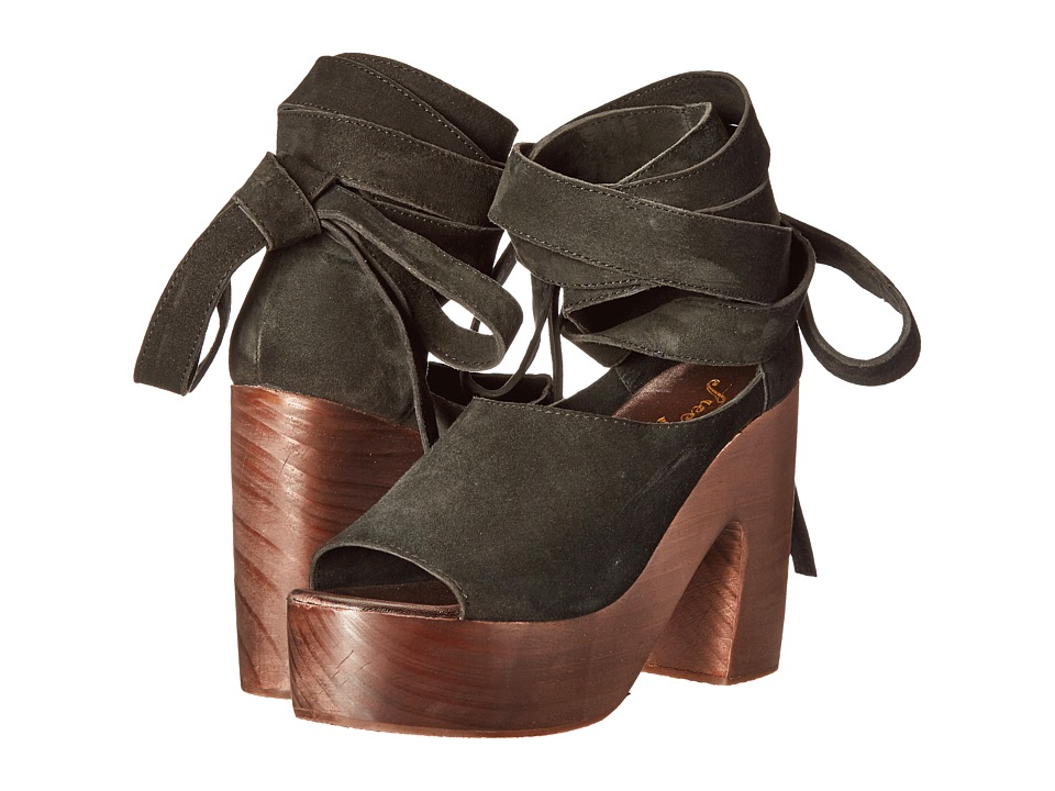 Free People Touch the Sky Wrap Clog (Black Forest) Women