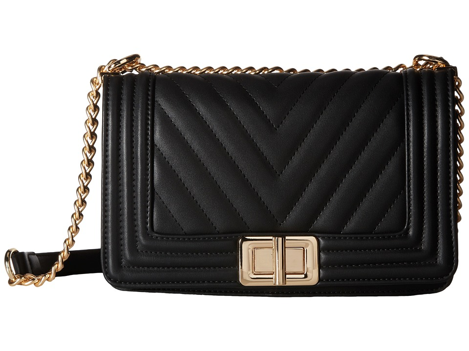 Gabriella Rocha - Zuine Quilted Chevron Shoulder Purse (Black) Shoulder Handbags