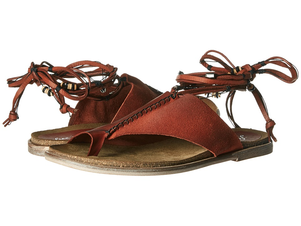 Free People - Leigh Hill Footbed Sandal (Aurora Red) Women's Sandals
