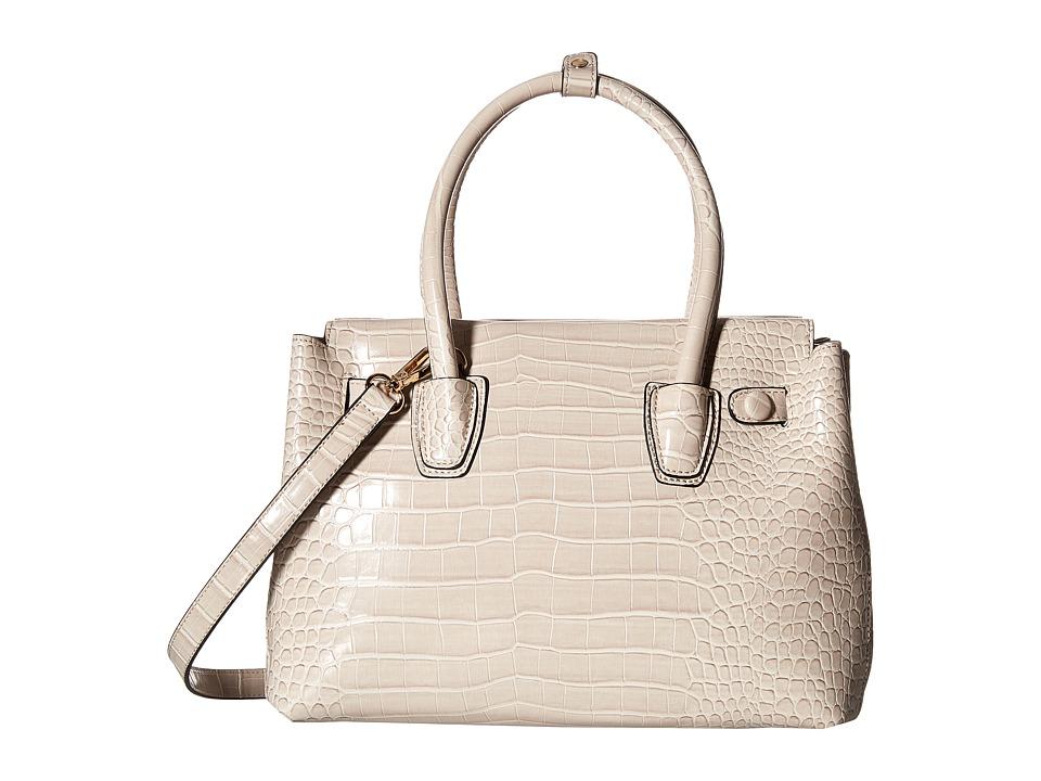 Gabriella Rocha - Belare Crocodile Satchel (Stone) Satchel Handbags