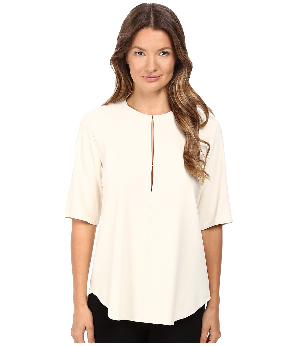 Theory - Antazie Bergen Top (Sandy White) Women's Clothing