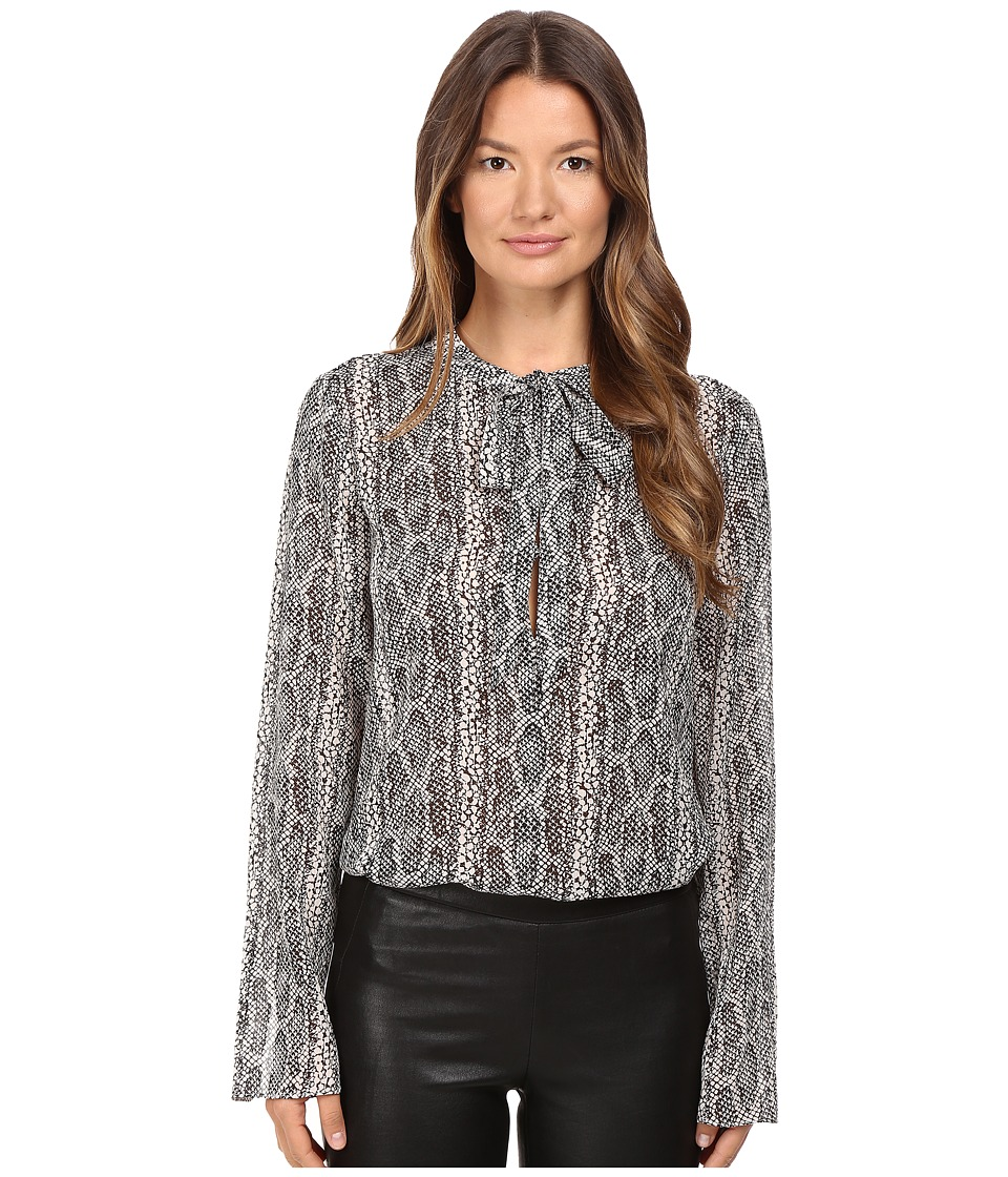 Theory - Kimry Snake Print Top (Malt/Black) Women's Clothing