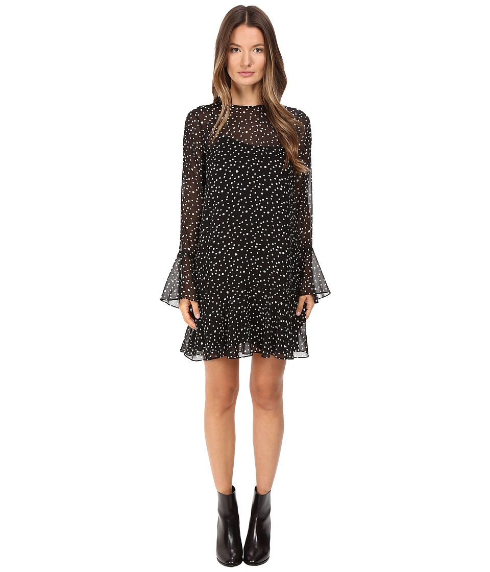 Theory Marah Starry Print Dress (Black/Ivory) Women
