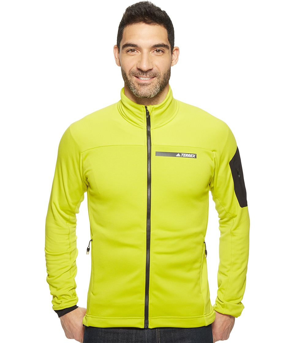 adidas Outdoor - Terrex Stockhorn Fleece Jacket (Unity Lime) Men's Coat