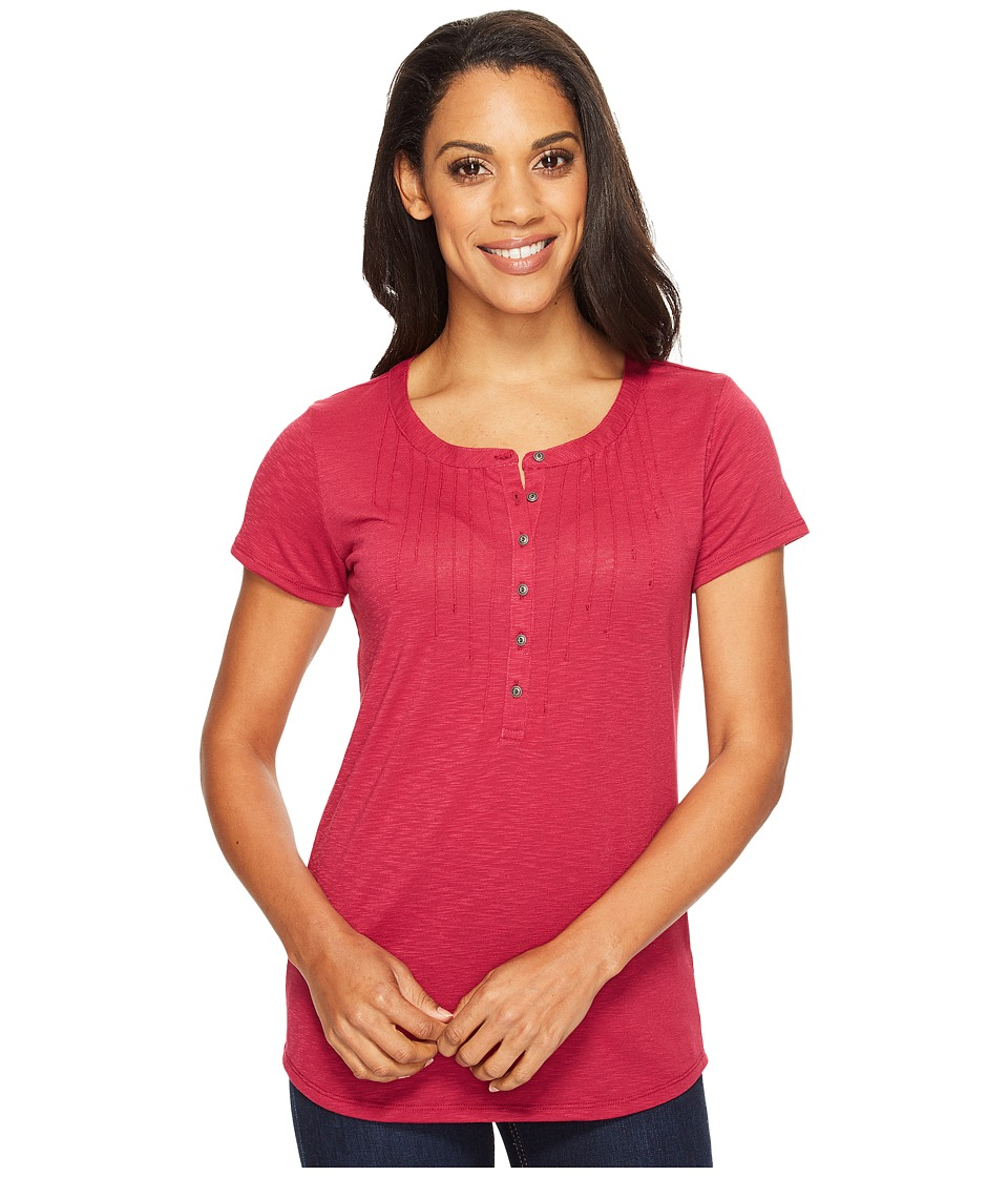 KUHL - Val Short Sleeve Shirt (Plum) Women's Short Sleeve Pullover