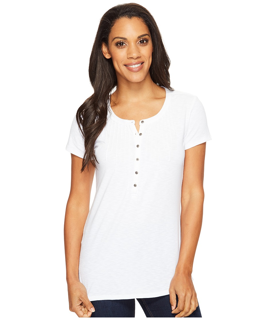 KUHL - Val Short Sleeve Shirt (White) Women's Short Sleeve Pullover