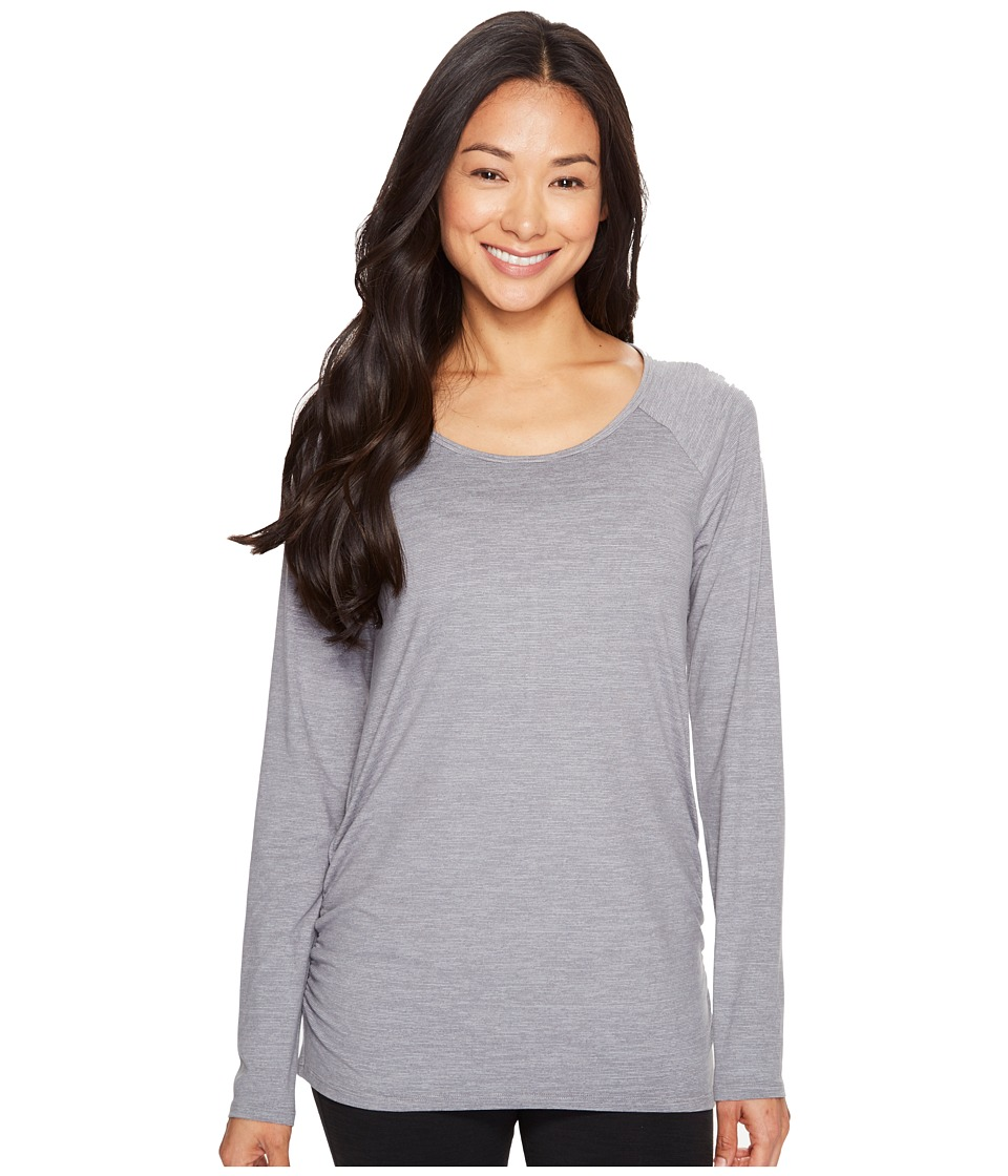 Lucy - Cosmic Long Sleeve Top (Silver Filigree Micro Stripe) Women's Long Sleeve Pullover
